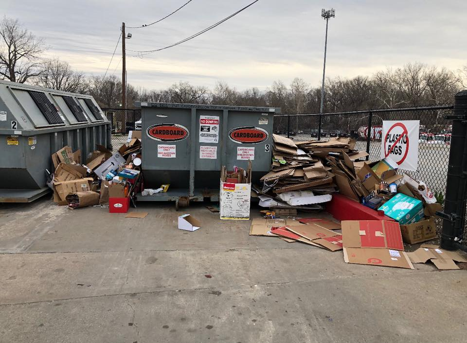 recycling center overflow